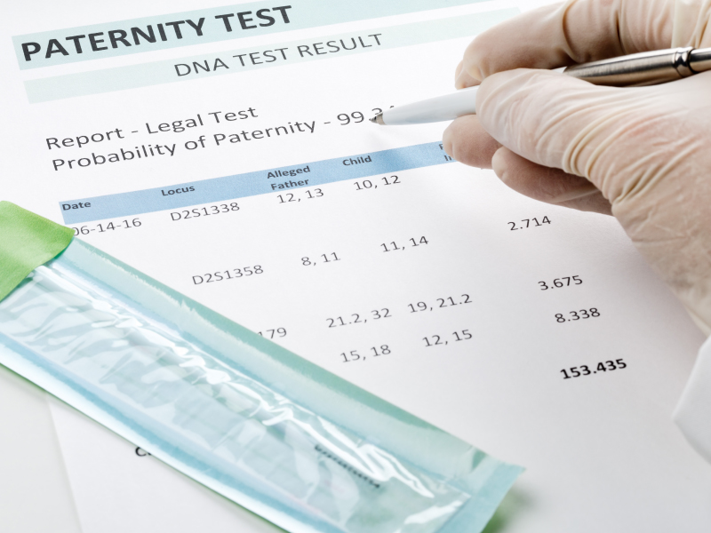 Paternity Test Results Paperwork